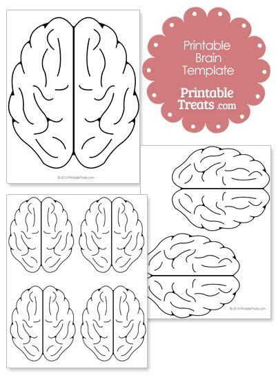 Printable Brain Template From Printabletreats Com Halloween Printables Pinterest Templates Growth Mindset Template