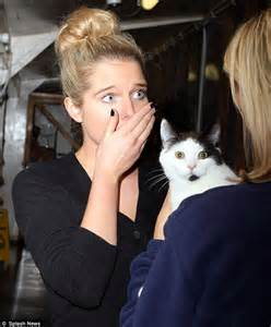Helen Flanagan visits animal shelter the morning after
