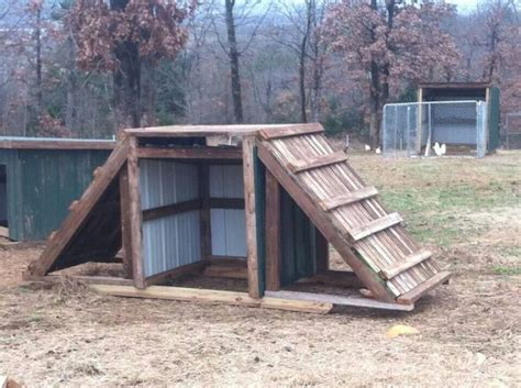 The Goat Shed by A Goat Playhouse Goats A Well The Roof