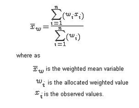 applying weighted average filter tutorial weighted average formula