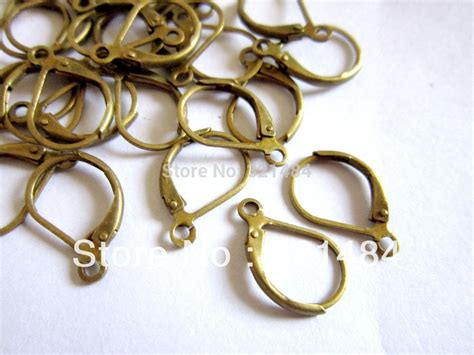 findings for jewelry 200pcs antique bronze leverback earwire earring