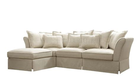 linen sectional 500910 karlee sectional sofa by coaster in linen fabric