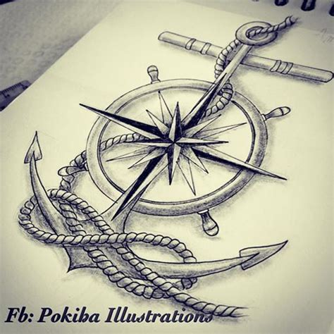anchor and compass tattoo image result for compass and anchor tattoos