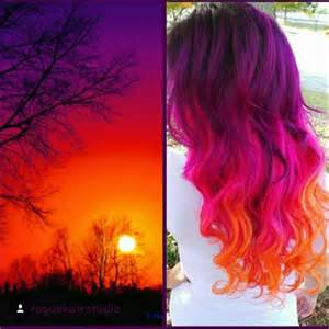 sunset colored hair 10 summer hair color trends from unicolist vpfashion