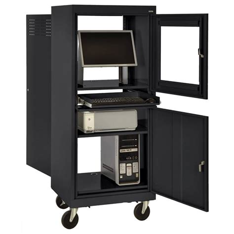 Computer Cabinet With Lock by All Mobile Computer Security Cabinet By Sandusky
