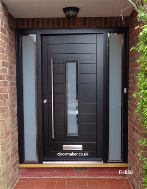 contemporary black front doors contemporary front doors oak iroko and other woods
