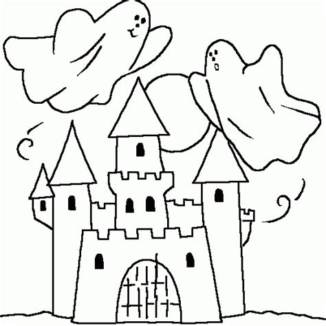 halloween coloring pages castle a haunted castle coloring for halloween halloween