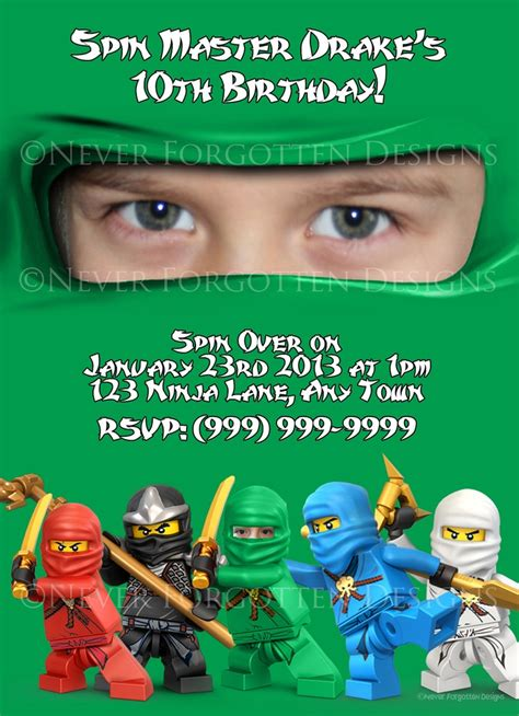 printable ninjago invitations free photo ninjago invitations max ninjago party pinterest