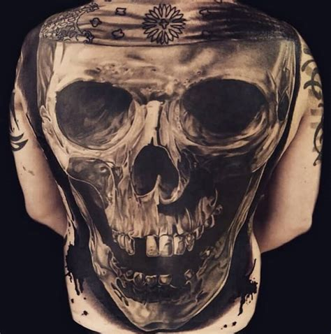 full back tattoo design 80 amazing exle of cool skull designs golfian