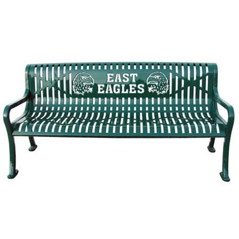 personalized park bench commercial custom metal outdoor park benches