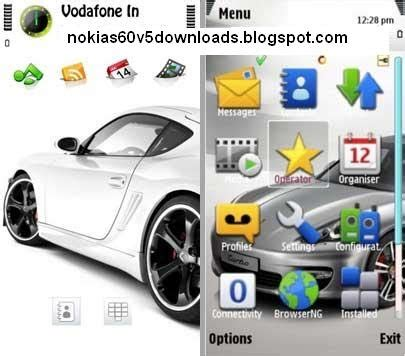 nokia 5233 car themes attractive simple and beautiful white car theme for nokia