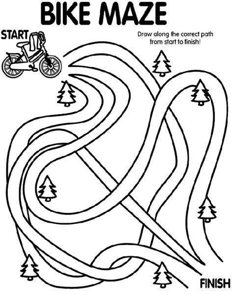 bike maze coloring page crayola com