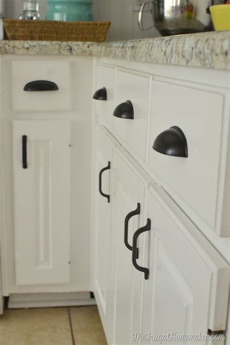 farmhouse kitchen cabinet hardware how to re paint your yucky white cabinets