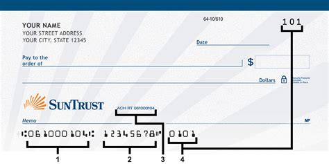 what is a bank ach number check routing number suntrust personal banking
