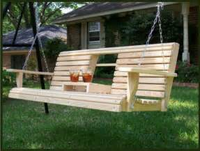wooden patio swing porch swing recipe dishmaps