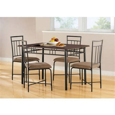 metal and wood dining room furniture mainstays 5 wood and metal dining set