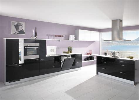 Interior Decoration In Kitchen cuisine noire brillante photo 8 15 avec de nombreux