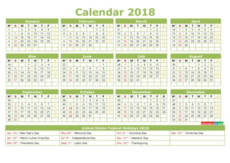 printable monthly calendar with holidays 2018 12 month calendar 2018 with holidays printable 3