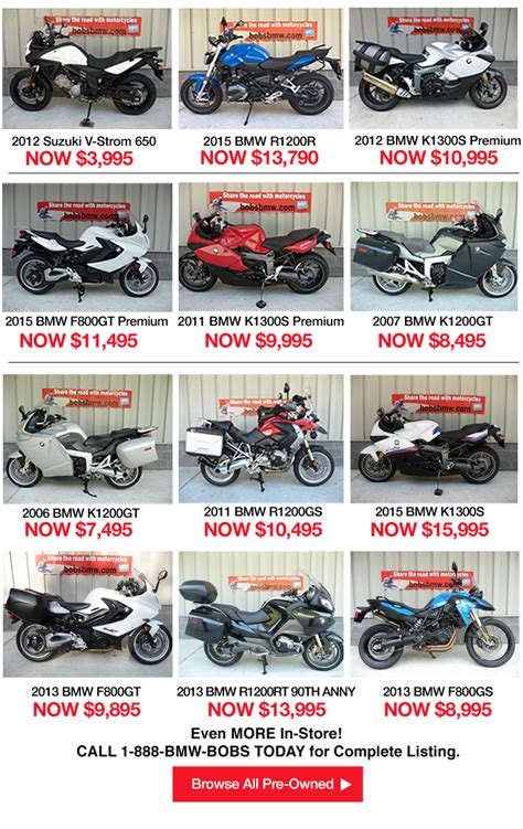 Bmw Motorrad Usa Promotions by Motorcycle Promotions December Bob S Bmw Motorcycles