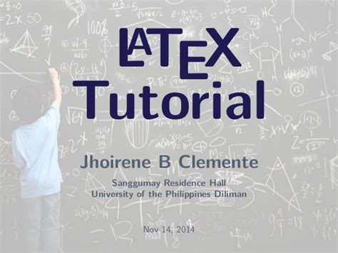 Latex Tutorial Uni | latex tutorial