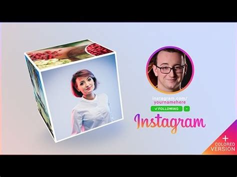 Instagram Promo Cube Gallery After Effects Template Youtube Instagram Promo Template