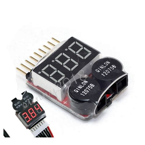Sale Pelindung Kabel 2in1 Discount aliexpress buy new 2in1 1 8s lithium lipo battery power monitor bb ring adjustable alarm