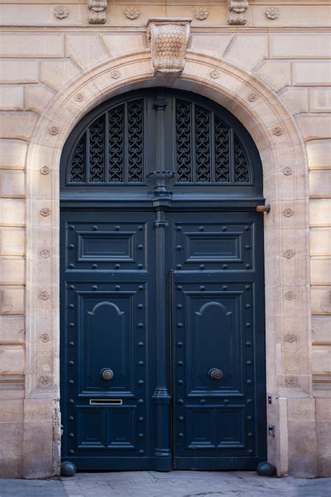 navy blue door paris photograph navy blue door parisian travel fine art