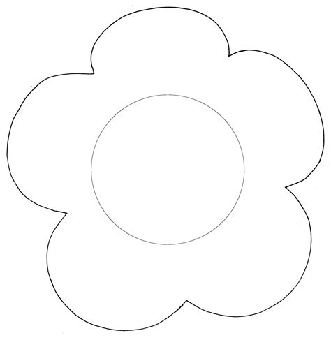 Simple Flower Template Clipart Best Template Para