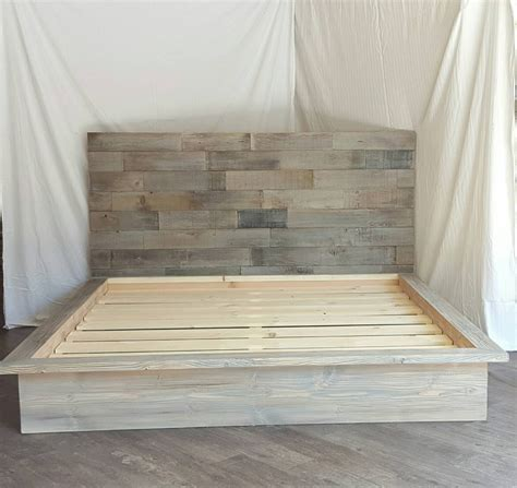 driftwood bed steph grey driftwood finished platform bed with horizontal