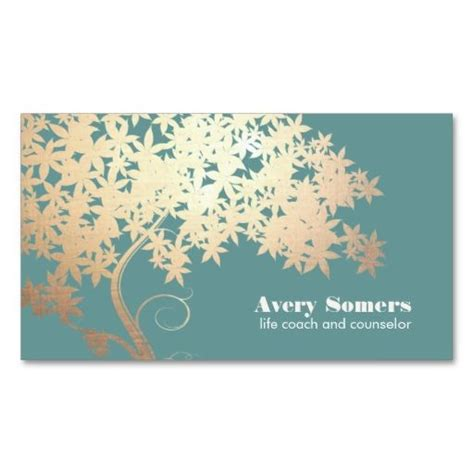 business card template tree tree of logo health and wellness business card