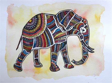 free printable and elephant painting