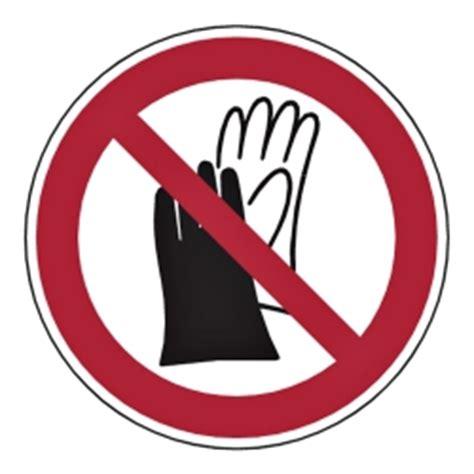 Kunststoff Aufkleber Bestellen by Quot Schutzhandschuhe Verboten Quot Kunststoff Aufkleber Shop