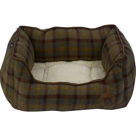 fleece dog bed fleece dog bed pet face luxury country check puppy basket