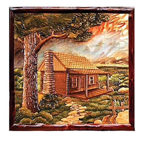 cabin home wood wall