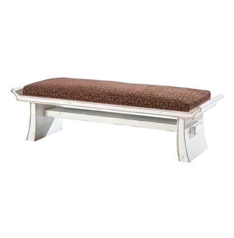 white end of bed bench kehoe end of bed asian inspired vintage white vanity bench