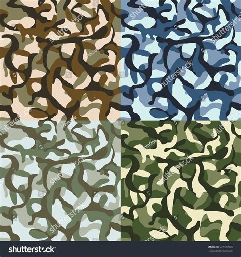 pattern usa army vector army camouflage hunter combat camo vector stock vector