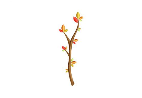 tree branch fall machine embroidery design daily embroidery