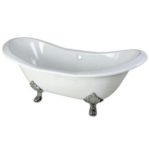 bathtub with claw feet aqua eden cast iron polished chrome claw foot double