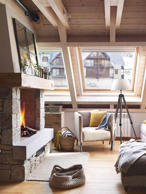 chimeneas en salones 15 salones con chimenea para el invierno