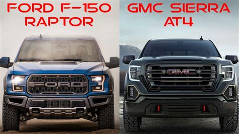 2020 gmc vs ford 2019 gmc at4 vs ford raptor gmc review release