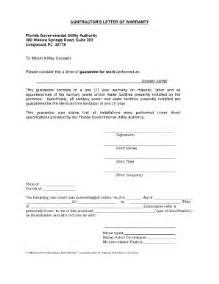 warranty letter fill online printable fillable blank