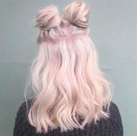 half up bun hairstyles tumblr space buns the most instagrammable beauty trends of 2017