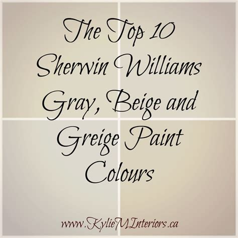 sherwin williams the 10 best gray and greige paint colours m interiors