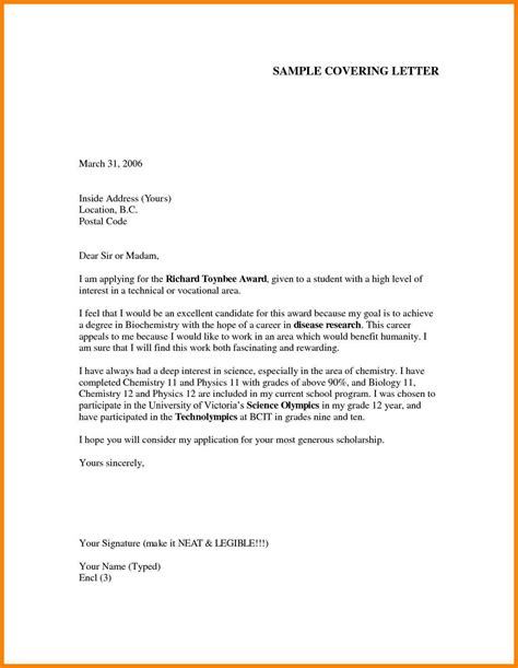 Formal Cover Letter