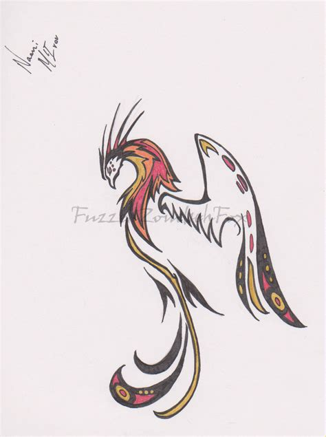 simple phoenix tattoo by fuzzehzombehfox on deviantart