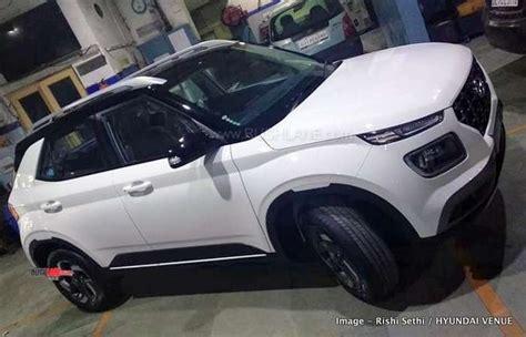 hyundai venue white black dual tone arrives  dealer