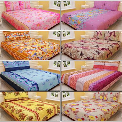 double bed sheets buy salona 8 designer double bed sheets with 16 pillow