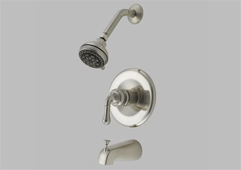 Bathtub Faucet Sets | satin nickel shower head and tub faucet set hardware