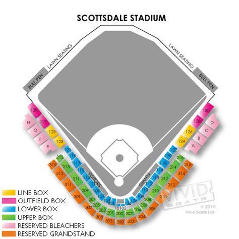 Scottsdale stadium seating chart elcho table