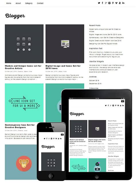 wordpress theme blog mobile 10 free blog wordpress themes 2017 themely